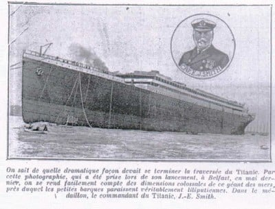 Captain Smith and launch of Titanic