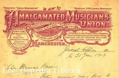 Amalgamated Musicians' Union on Roger Bricoux