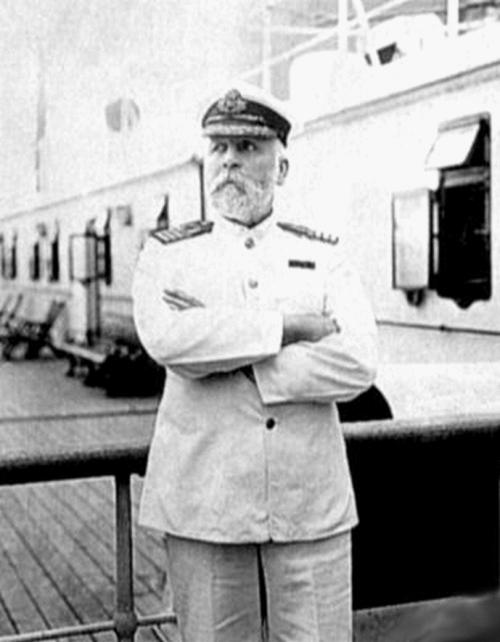 Captain Smith on bridge of Olympic or Titanic