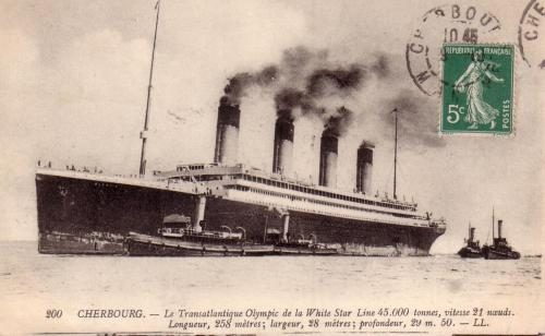 Olympic Postcard (Cherbourg)