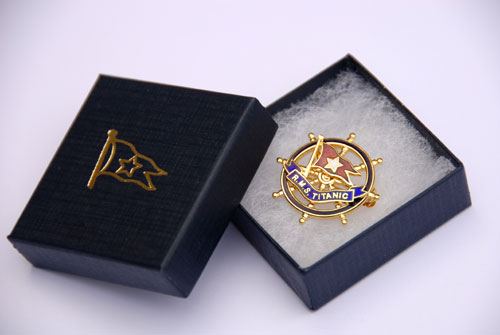 Titanic Badge and Presentation Box