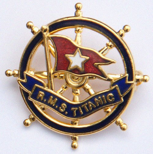Titanic Badge Close Up