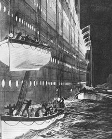 Titanic : Lowering Lifeboats Side